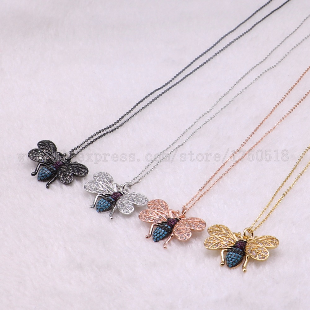 5 strands bugs necklace Insects bee pest pendants necklace small size jewelry 18 mix color necklace pets beads 3069