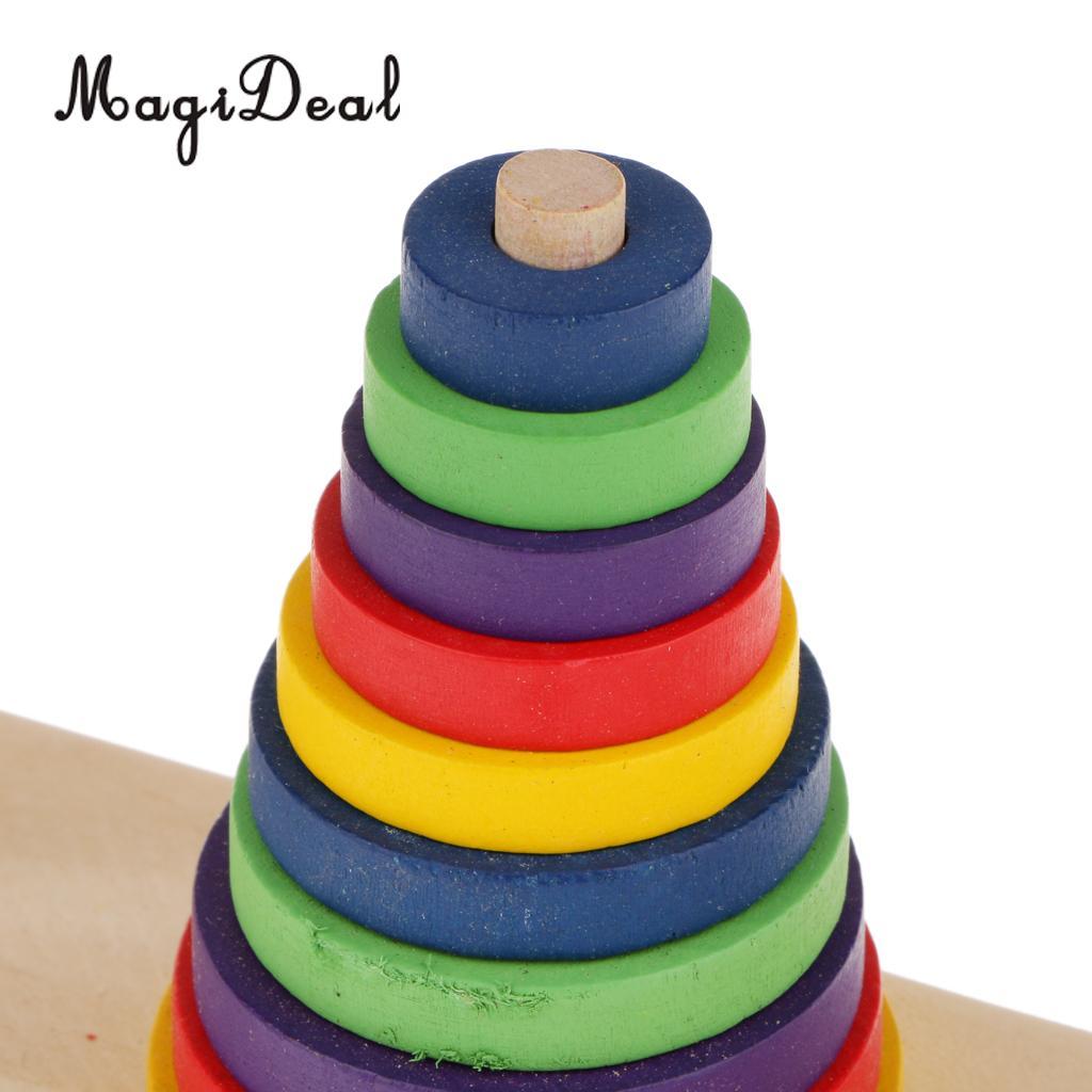 MagiDeal 1 шт. традиционные индийские деревянный башни ханоя игрушка для детей раннего образования Семья дома играть дети математические голов...