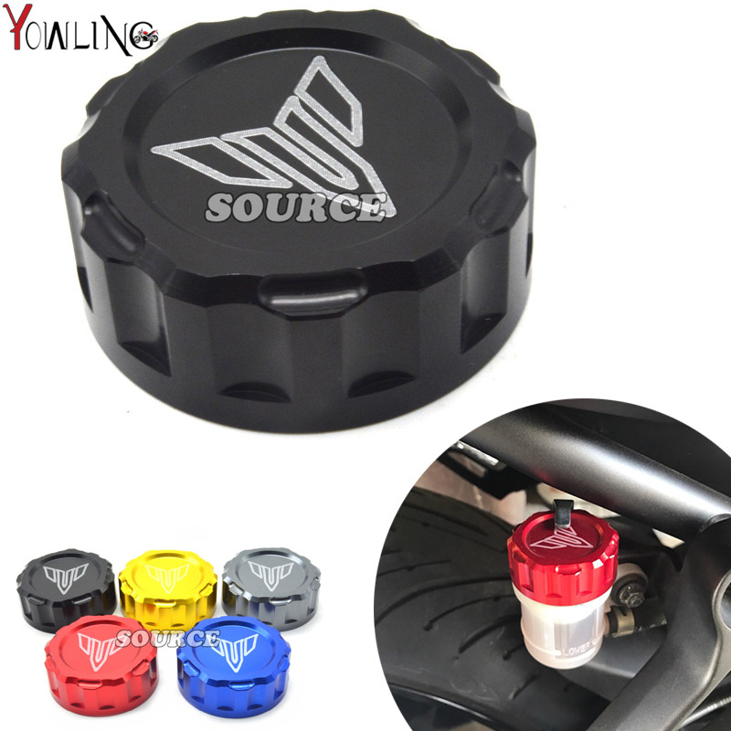 Motorcycle CNC Cylinder Rear Fuel Brake Fluid Reservoir Cover Tank Cap For Yamaha MT07 MT-07 MT 07 mt9 mt-09 fz9 MT-10 2014-2017 motorcycle brake fluid reservoir clutch tank oil fluid cup universal for yamaha r1 r3 r6 mt 07 mt 09 mt07 mt 07 tmax 530 ktm