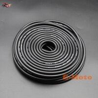 Motorcycle Fuel Hose Gas Oil Tube Line Petrol Pipe 5mm I/D 8mm O/D 20m Length Black Fuel Hose new E Moto