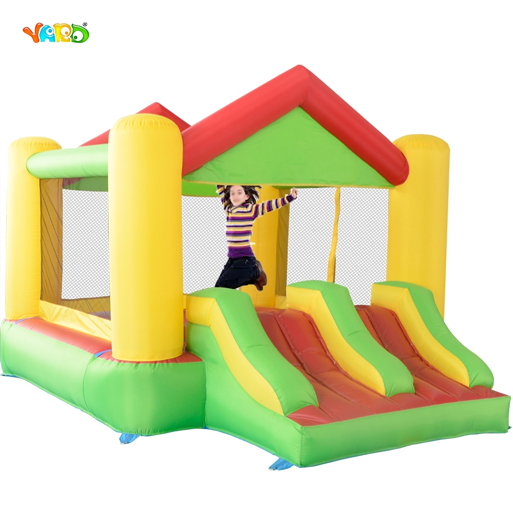 Colorful Inflatable Bouncer Giant Air Jumper Dual Slide Jumping Castle Combo For Home Use jumping inflatable castle bouncy castle jumper bouncer castle inflatable bouncer with slide
