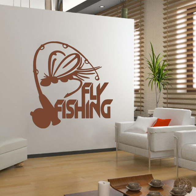Fischer Fly Fishing Vinyl Aufkleber Wand Aufkleber Fenster Aufkleber