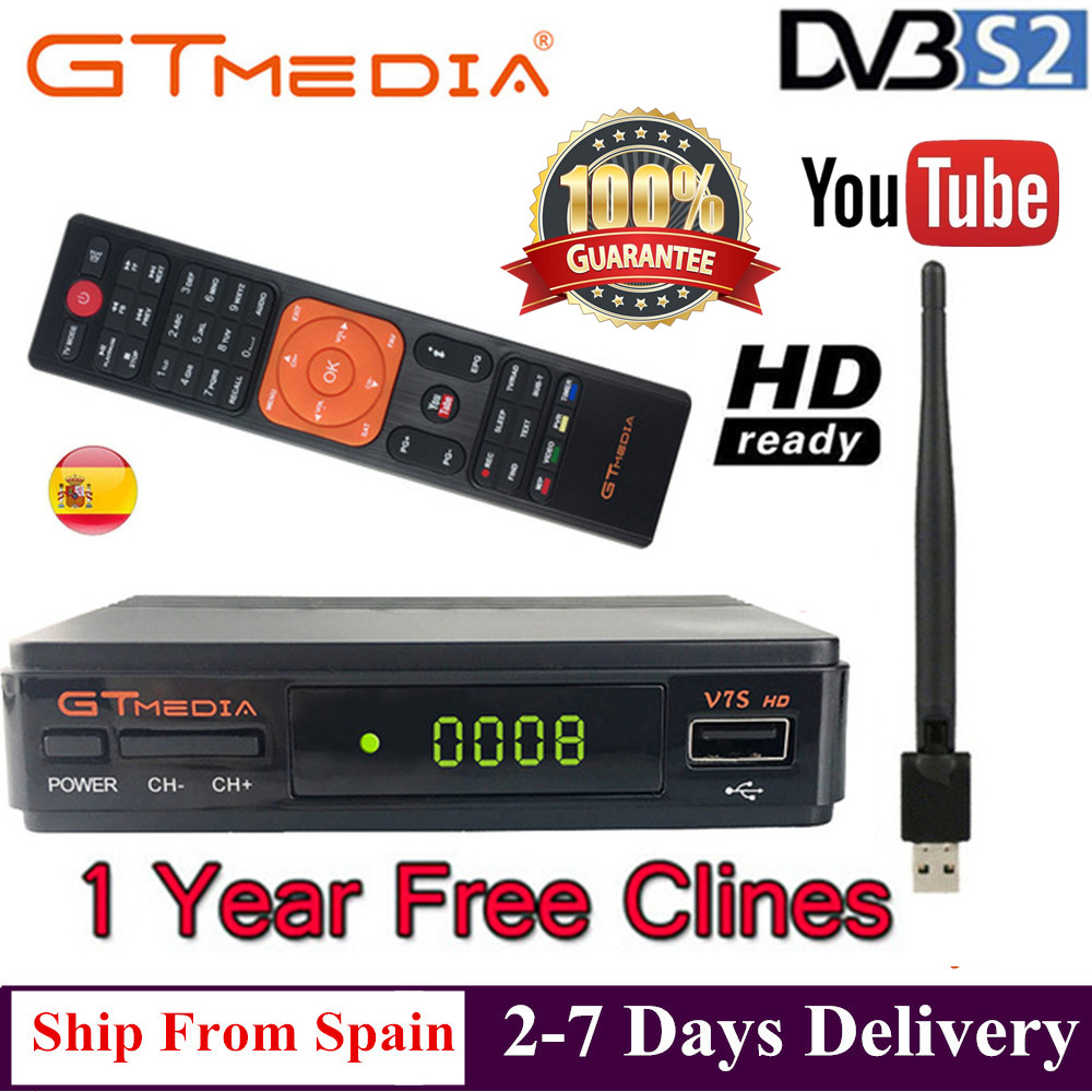 FREESAT V7S HD DVB S S2 Satellite Receiver Full HD1080P USB WIFI support YouTube Biss key