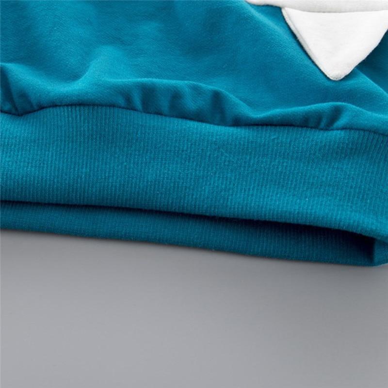 Boys clothes Child Kids Winter Boys Cartoon Shark Long Sleeve Tops Denim Pants Outfits Set #4j22 (13)