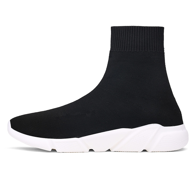 2019 NEW Hosiery Shoes Men Walking Shoes Slip On Socks Shoes Man Female Comfortable Shoes Black Mesh Breathable Sneakers