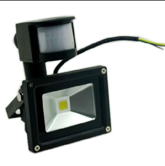 Outdoor Lamp Waterproof IP65 10W Ultrathin LED PIR Motion Sensor Flood Light Landscape Spotlight Light AC/DC 12V Big Discount