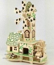 Free shipping baby toy blocks wood 3D toys building blocks girl boy