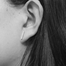 2016 Fashion Gold Silver Punk Simple T Bar Earrings For Women Ear Stud Earrings Fine Jewelry Geometry Brincos Bijoux