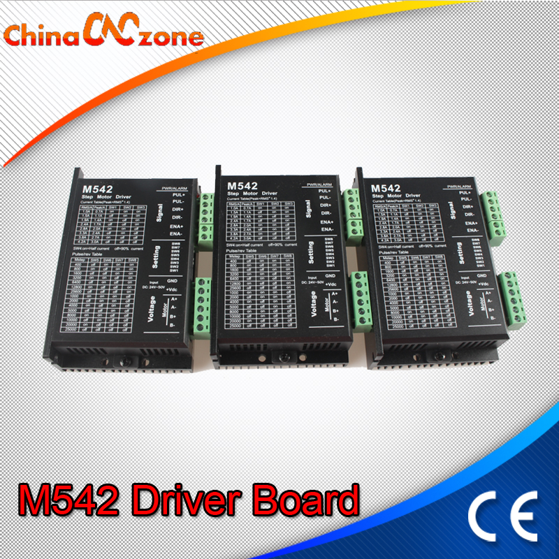 CNC Phase Stepper Step Motor Driver Board drive Test Module Machinery Board M542 50V 4.2A 128M for Engraver machine 42/57 Motor stepper motor drive controller angle direction speed adjustable loop integrated 42 57 two phase