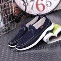 Zapatos de mezclilla hombres zapatos mocasines bajo precio zapato casual 2016 nuevo Goma Dedo Del Pie redondo Básico pisos EU tamaño 39-44 hombres zapatos planos