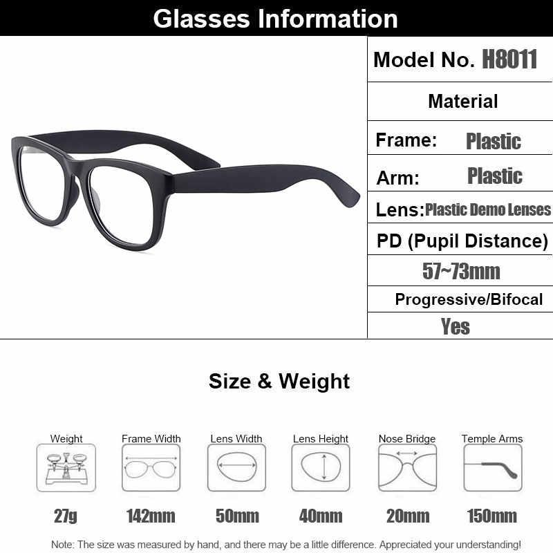 Gmei Optik Voguish Putaran Penuh Rim Plastik Wanita Bingkai Kacamata Miopia Presbyopia Membaca Resep Kacamata H8011