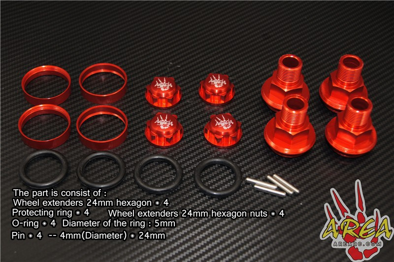 Area Rc Wheel Extended adapter for LOSI DBXL rear hub carriers inclue extenders for losi dbxl