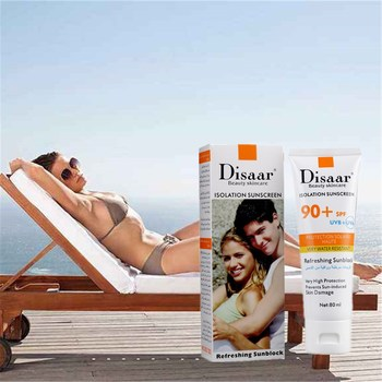 80ml DISAAR Isolation Sunscreen Skin Care Whitening Cream Concealer Cosmetics CC cream Long Lasting Brighten Natural Makeup laikou men bb cream concealer face cream natural whitening skin care long lasting oil control face care sunscreen makeup 15g 15g