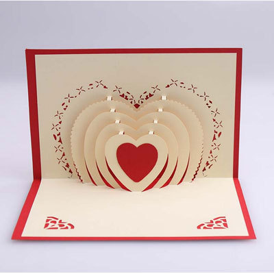 belle main kirigami 3d pop up cartes de voeux coeur carte de mariage invit s carte d 39 invitation. Black Bedroom Furniture Sets. Home Design Ideas