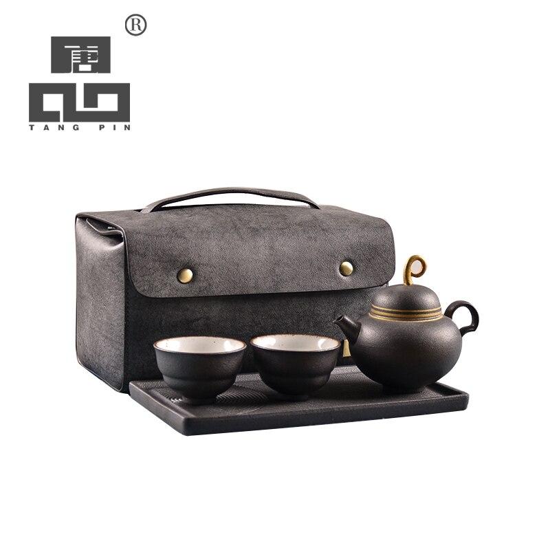 TANGPIN chinese ceramic teapot teacups a tea sets portable travel tea sets with travel bag