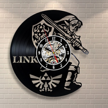 New Art CD Vinyl Record Wall Clock Saat Legend of Zelda Handmade Watch Black Horloge Murale Reloj De Pared Decor Home Design