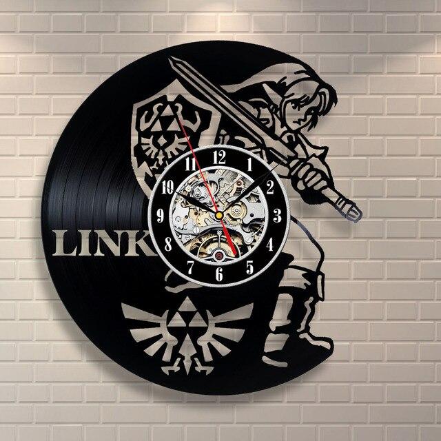 Nuevo arte Reloj de pared del registro del vinilo Saat leyenda de ...
