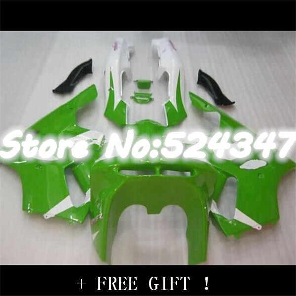 חם מכירות, 94-97 Ninja ZX-6R Fairing עבור kawasaki Ninja ZX6R 1994-1997 ZX 6R 94 95 96 97 ירוק ולבן אופנוע מעטפת-Nn