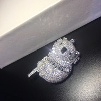 Милая брошь коала шпильки ювелирные украшения для женщин и мужчин брошь унисекс булавки Бесплатная доставка 925 серебро высокого качества