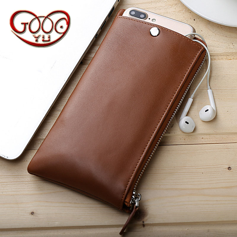 Business men and women long wallet men and women in Europe and America large-capacity multi-function zipper phone bag body composition and physiological function in women