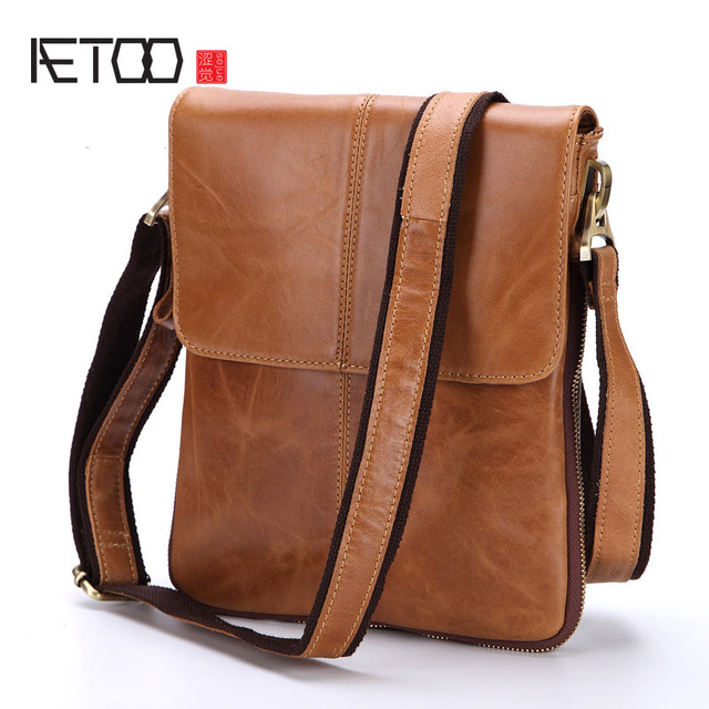 83236c4f7046 AETOO Leather men bag first layer of leather casual men s bag -in ...