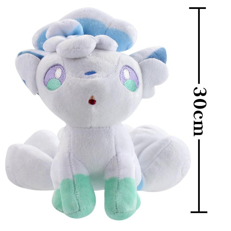 Anime Alola Vulpix Plush Toy Soft Stuffed Animals Toys Doll Gifts For Kids Children 21cm/30cm