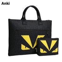 Fashion Wool Felt Laptops Notebook Briefcase Hand Bag For Macbook Air Pro Retina 11 12 13
