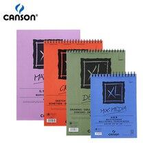 Хорошее Canson XL Mix Media/Маркер/эскиз/Детский рисунок колодки боковые Провода Записные книжки для акриловой живописи акварелью Карандаши воды -растворимые маркеры