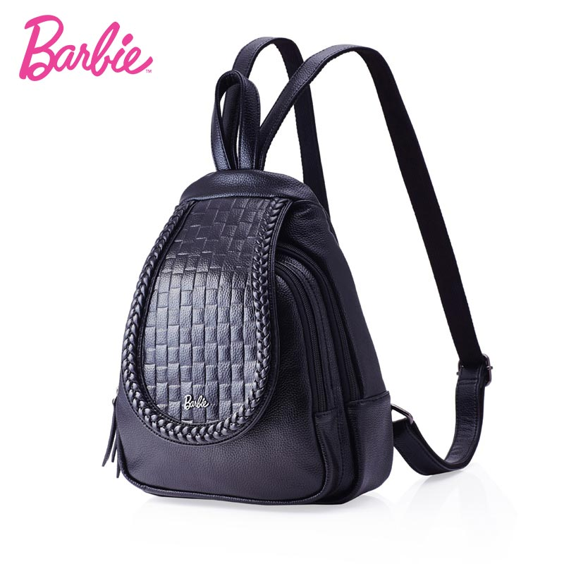BARBIE 2018 New Fashion PU Leather Women Backpack School Bag Travel Bag For Teenage Girl Shoulder Bag mochila feminina Bag 2018 new rivet pu leather backpack women fashion school bag casual patent leather travel bag women backpack monster school bag