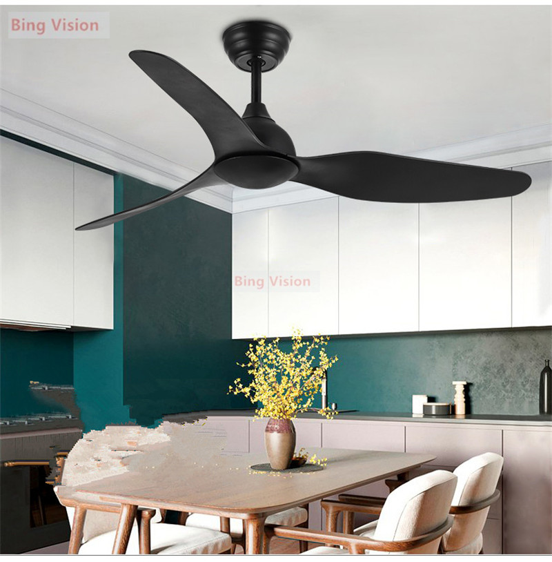 Nordic Ceiling Fan Luxury Restaurant Home Ceiling Fan American-style Simple Household Ceiling Fan Without Light DC 220V 110v