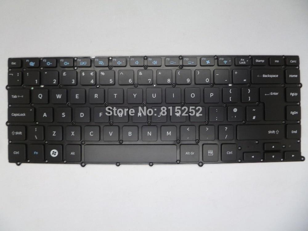 Laptop Keyboard For Samsung 900X4C With Backlight UK-United Kingdom BA59-03464E Black Without Frame laptop keyboard for acer silver without frame united kingdom uk v 121646ck2 uk aezqse00110