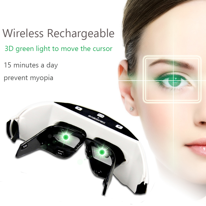 Wireless 3D Rechargeable Green Light Eye instrument Restore vision Eye Massager Child Myopia Treatment Massage eye glasses 2pcs jia kang s three generation eye instrument eye massager eye eye massager extended edition of the new