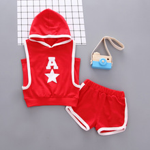 Kids Clothes Summer Casual Hooded Tops+Shorts 2PCS Infant Clothing Sets Romper Overalls Sportswea Jogging Baby Boy Girl Suit