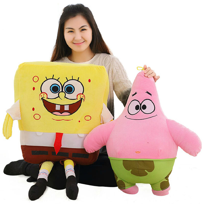 50CM 1 PCS Sponge Bob Toys Pillow Child Baby Toys Stuffed Plush Dolls Hot Sale High Quality Brinquedos Special Offer hot sale toys 45cm pelucia hello kitty dolls toys for children girl gift baby toys plush classic toys brinquedos valentine gifts