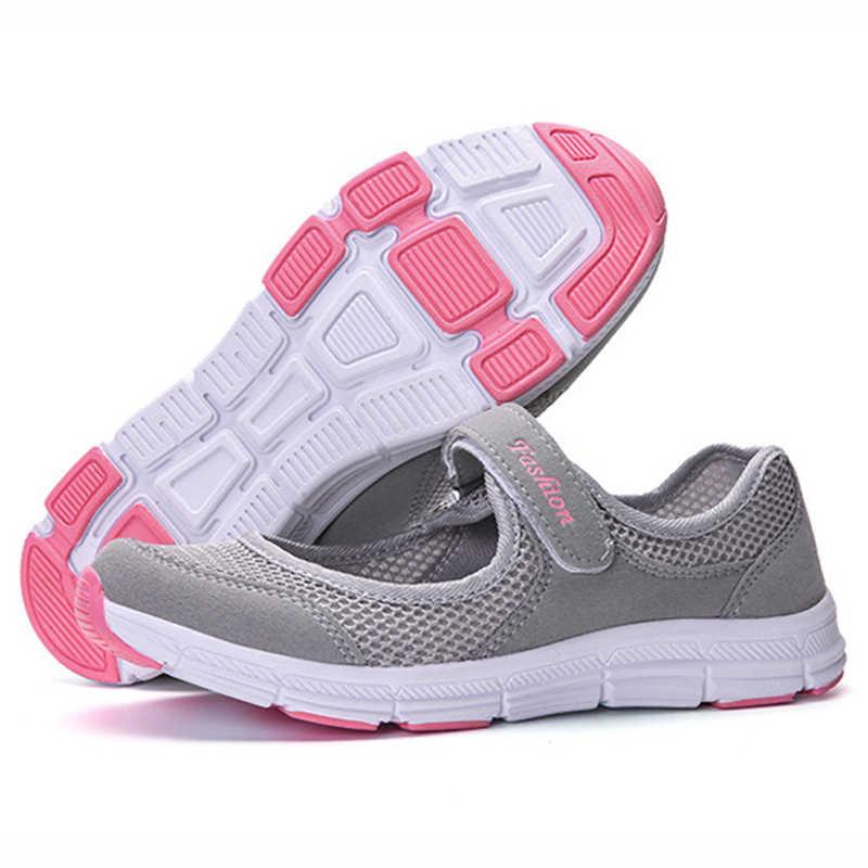Новинка 2019 года; женская обувь на плоской подошве; сезон весна-лето; женская обувь на плоской подошве из сетчатого материала; женские мягкие дышащие кроссовки; женская повседневная обувь; Zapatos De Mujer