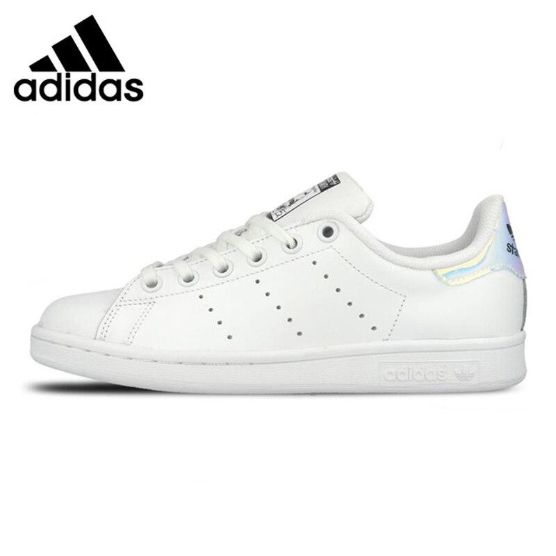 Adidas STAN SMITH Women's Walking Shoes, White & Sky Blue, Lightweight Breathable Shock-absorbing Wear-resistant BA7673 AQ6272 adidas кеды adidas stan smith vulc mystery blue footwear white matte gold uk 12