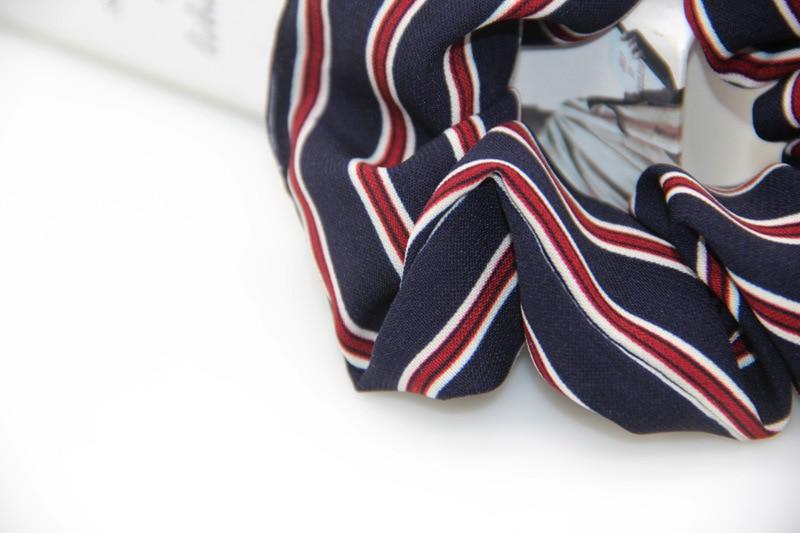 Новое поступление Лето 2017 г. с принтом в полоску для женщин кружево резинки для волос бант аксессуары для волос хвост держатель волос
