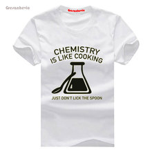 Chemistry Is Like Cooking New Fashion Men's T-shirts Cotton t shirts Man Clothing Wholesale