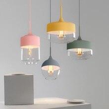 Lampes suspendues postmodernes nordiques personnalité créative LED Macarons café Restaurant accueil Bar éclairage lampe suspendue colorée