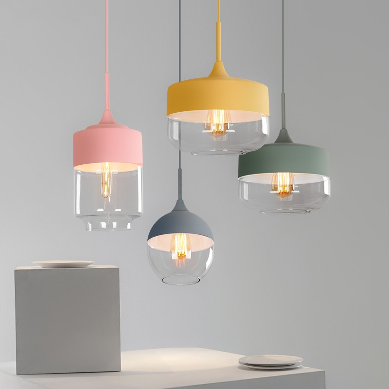 Nordic Postmodern Pendant Lights Creative Personality LED Macarons Cafe Restaurant Home Bar Colorful Hanging Lights