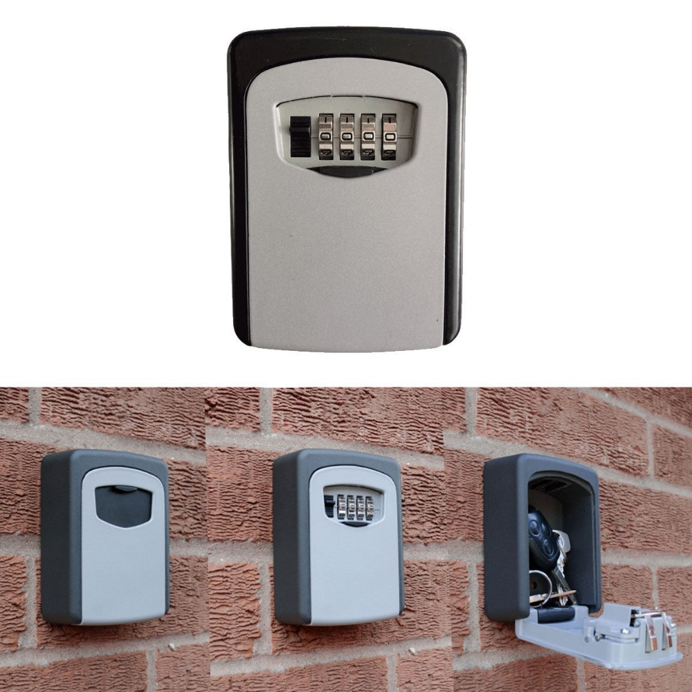 Door hardware key safe Wall Mounted Key Storage Box Combination ...