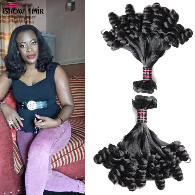 Aliexpress uk/Nigéria brasileira solta onda o romance cabelo funmi saltitante onda funmi cabelo 10a ishow produto remy do cabelo humano extensão