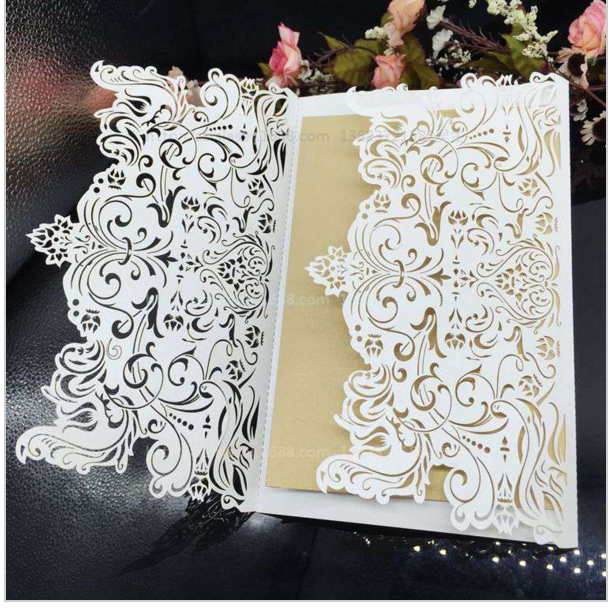 20pcs lot 12 18cm creative hollow laser cut wedding for Aana decoration wedding accessories