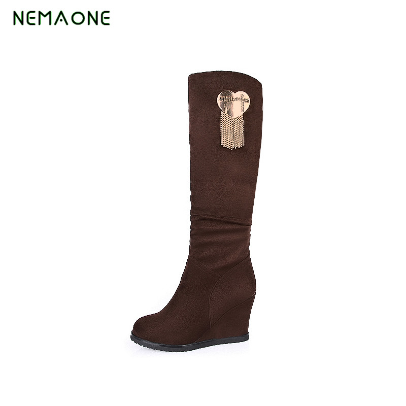 NEMAONE winter boots women fashion snow boots new style zipper easy wearing autumn shoes high quality fast free shipping
