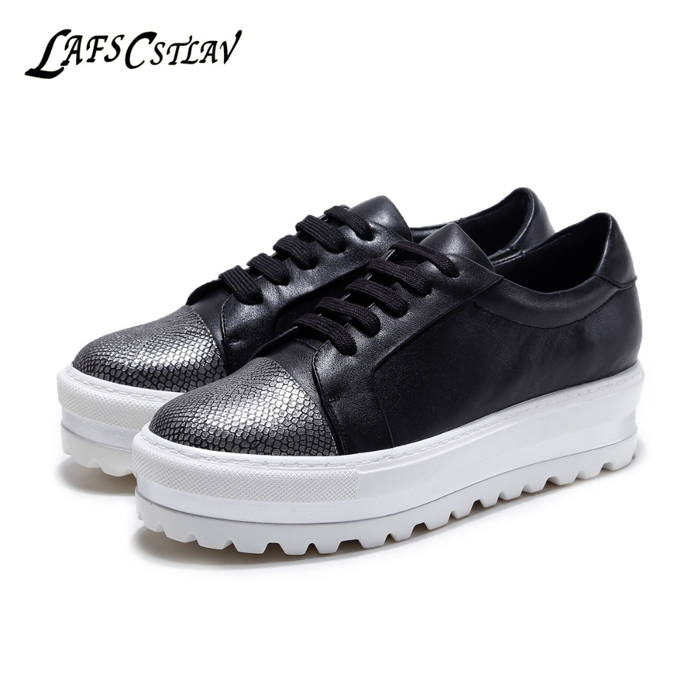 LAFS CSTLAV Genuine Leather Women Flats High Lift Loafers Comfortable Casual Flat Platform Fashion Beautiful Heightened Shoes 7ipupas hot selling fashion women shoes women casual shoes comfortable damping eva soles flat platform shoe for all season flats