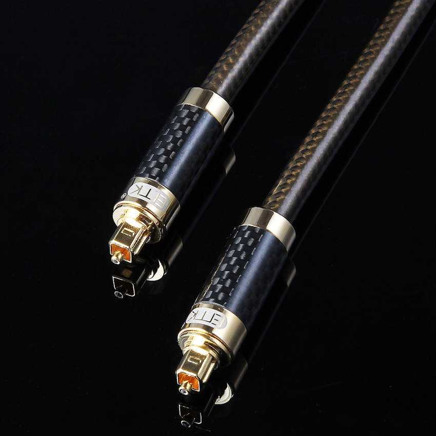 EMK Optical Audio Cable Digital Sound SPDIF Coaxial Cord Toslink Fiber Optic Cable OD8.0 5 5 premium digital optical fiber optic toslink male to male audio cable golden black 500cm