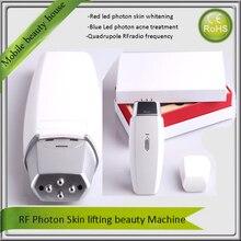 Mini Quadrupole RF Radio Frequency Eye Face Body Skin Lifting Anti Aging Acne Wrinkle Removal Led Photon Beauty Machine