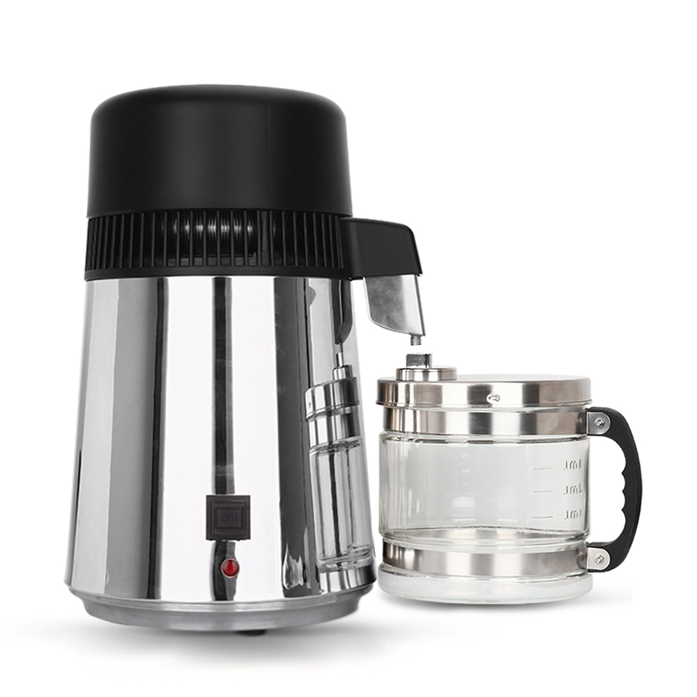 Hot 4L Household Water Distiller Filter 750W Stainless Steel Water Filter Distillation Machine Glass Jar for Home Hospital Lab цена 2017