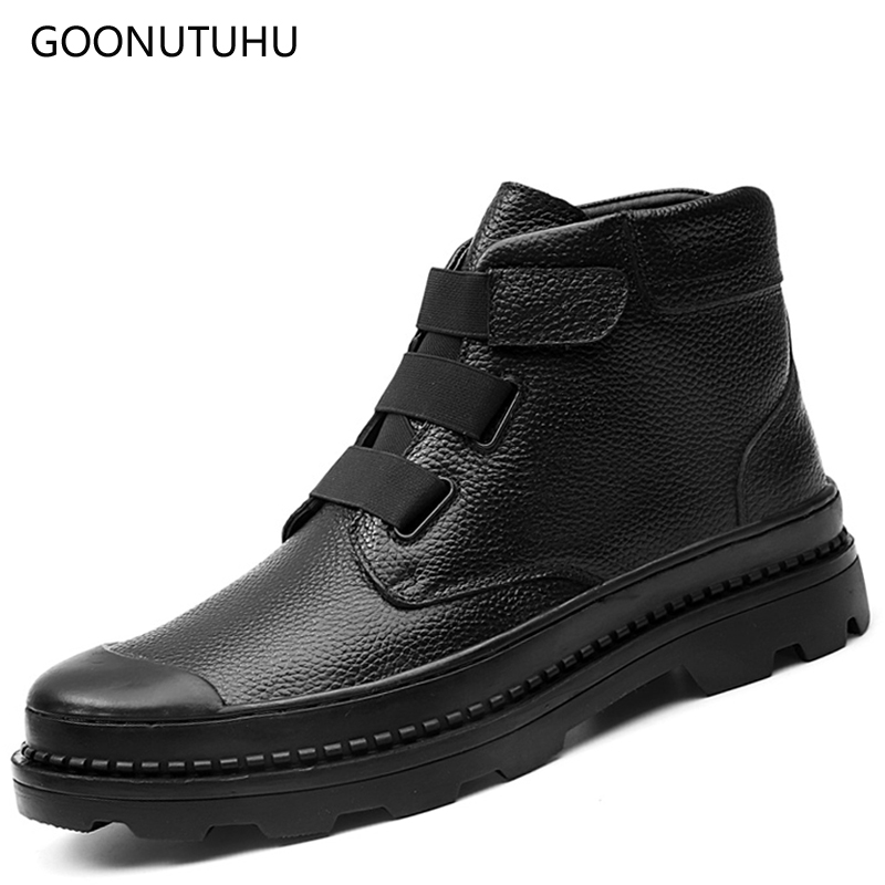 2018 autumn & winter men's boots casual work & safety shoes genuine leather ankle boot man plus size shoe military boots for men plus size 36 46 genuine leather women ankle boots hiking shoes women work safety shoes