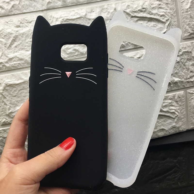 For Samsung J3 J5 2017 EU J7 pro 2017 Case Cute Cartoon Cat Cases 3D Silicone Soft Back Cover Funda For Galaxy J530 Phone Cases (10)
